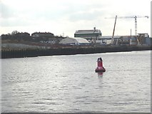 NZ3567 : Buoy, just upstream of the South Shields ferry terminal by Christine Johnstone
