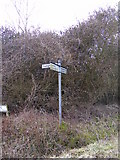 TM3569 : Roadsign on Mill Hill by Geographer