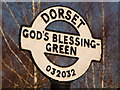 SU0303 : Holt: God's Blessing Green signpost detail by Chris Downer