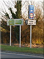SY9499 : Sturminster Marshall: new signage on the A350 by Chris Downer