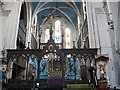 TQ4278 : Rood screen of St Michael's church by Stephen Craven