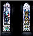 NT9130 : Stained glass windows, St Gregory's, Kirknewton by Andrew Curtis