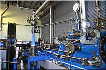 SD9311 : Newly erected steam engine, Ellenroad Engine House by Chris Allen