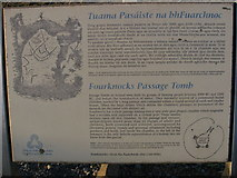 O1062 : Information sign at Fourknocks by Kieran Campbell