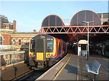 SU6400 : Platform 1, Portsmouth and Southsea station by David Smith