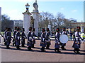 TQ2979 : Guards march to Buckingham Palace London by PAUL FARMER