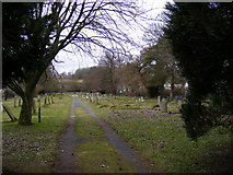 TM3569 : Peasenhall Cemetery by Geographer