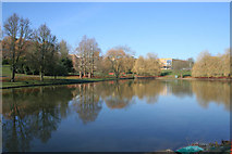 SU9850 : Campus lake, University of Surrey, Guildford by Kate Jewell