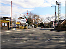 SJ7788 : Navigation Road Level Crossing by David Dixon