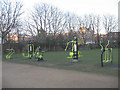 TQ3279 : Outdoor gym in Mint Street Park by Stephen Craven