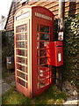 ST8104 : Winterborne Houghton: phone and postbox by Chris Downer