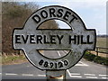 ST8812 : Stourpaine: detail of Everley Hill signpost by Chris Downer
