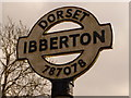 ST7807 : Ibberton: detail of village signpost by Chris Downer