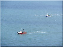 SX9456 : Trawlers pass Berry Head, on their return to Brixham by Roger Cornfoot