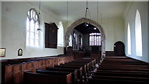 SJ5608 : Interior of St. Andrews Church, Wroxeter by Peter Comeau