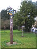 TQ4450 : Crockham Hill Village Sign by David Anstiss