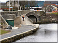 SD9012 : Rochdale Canal; Oldham Road Bridge by David Dixon