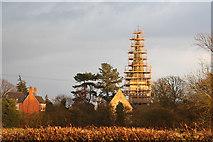 SK8770 : All Saints' church spire by Richard Croft