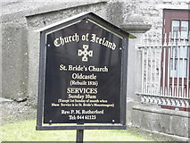N5580 : Information Board at St. Bride's Church of Ireland, Oldcastle by HENRY CLARK