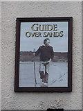 SD3876 : Guide Over Sands, Allithwaite, Sign by Alexander P Kapp
