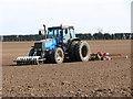 TL9891 : A farmer tilling his field by Evelyn Simak
