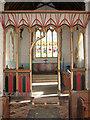 TL9991 : All Saints church in Snetterton - rood screen by Evelyn Simak