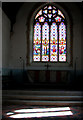 TL9991 : All Saints church in Snetterton - light and shadow in the chancel by Evelyn Simak