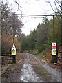 SX3777 : Forest track entrance to Gunoak Wood by Rod Allday