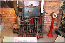 SO8218 : National Waterways Museum, river passenger boat engine by Chris Allen