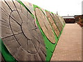 SK8839 : Paving Display at Downtown Garden centre by Ian Paterson