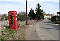 TL9992 : Sallow Lane through North End - Snetterton by Evelyn Simak
