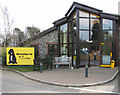 TM0092 : Entrance to the Dogs Trust Rehoming Centre in North End Lane by Evelyn Simak