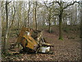 TQ9849 : Trailer in Wrotham Wood by Oast House Archive