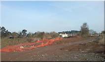 SO8453 : Ground work for the new river crossing at diglis by Andrew Darge