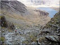 SH6358 : Rocky path in Cwm Idwal by Jeremy Bolwell