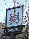 TM0855 : Town Sign by Keith Evans