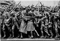 NZ2464 : 'The Response', World War I Memorial, Barras Bridge (detail) by Andrew Curtis