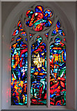 TM1579 : The church of St Andrew in Scole - east window by Evelyn Simak
