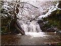 SO0739 : Waterfalls near Ramah Baptist Chapel by Andrew Lewis