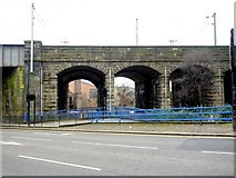 NZ2564 : Railway Viaduct by City Road by Andrew Curtis