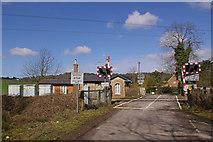 TQ2151 : Level Crossing, Rectory Lane by Ian Capper