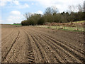 TG2405 : View along a recently drilled field by Evelyn Simak