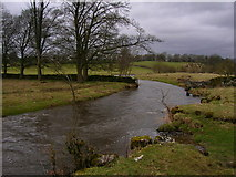 SD9058 : River Aire between Newfield Bridge and Airton by John H Darch