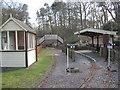 SJ6170 : Miniature railway station and bridge by Dr Duncan Pepper