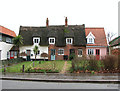 TM1682 : Cottages in The Street, Dickleburgh by Evelyn Simak