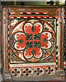 TM1682 : All Saints church in Dickleburgh - rood screen panel by Evelyn Simak