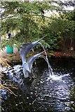 SJ6651 : A fountain in Stapeley Water Gardens by Steve Daniels