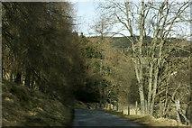 NO3462 : Road in Glen Prosen by Mike Pennington