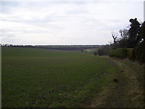 SU5846 : Footpath from Dummer cemetery by peter clayton