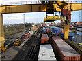 SU3812 : Railway serving container terminal by Alex McGregor
